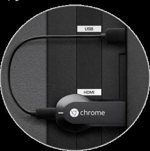 tilslutning af chromecast