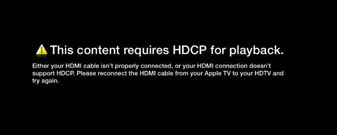 HDCP-fejl på Apple TV