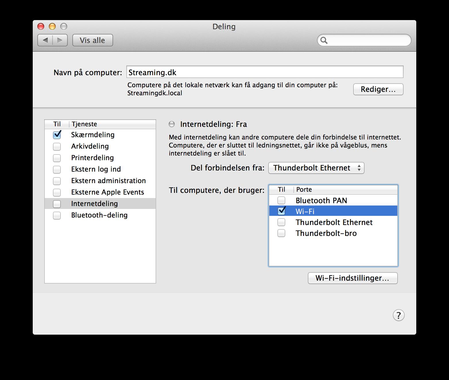 Sådan indstiller du et hotspot på din Mac