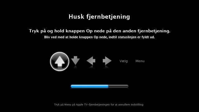 Brug din egen fjernbetjening med Apple TV