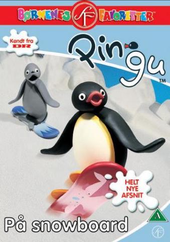Pingu på snowboard