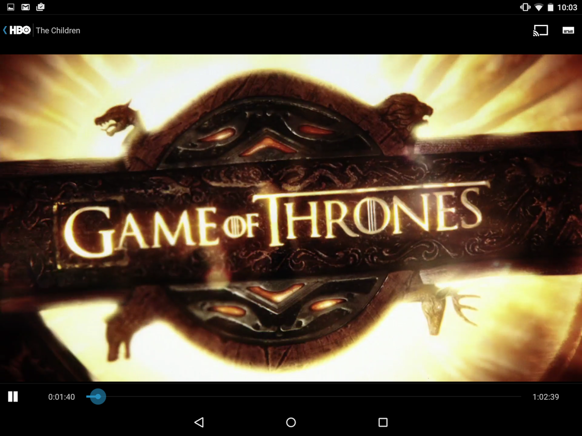 HBO Nordic Chromecast - Game of Thrones