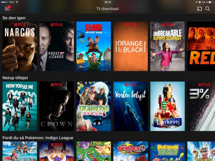 Download eller gem Netflix videoer offline